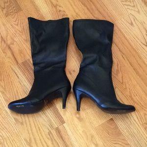 Unlisted Black Heel Zipper Boots 9